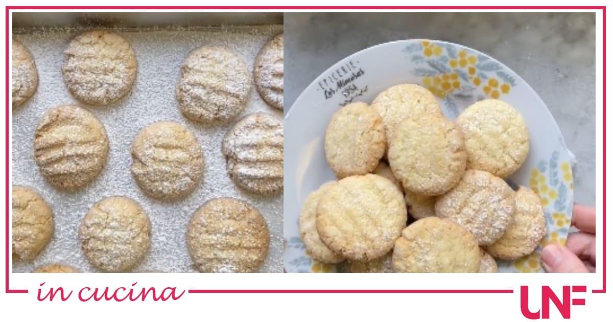 Biscotti al limone, la ricetta e il video di Natalia Cattelani