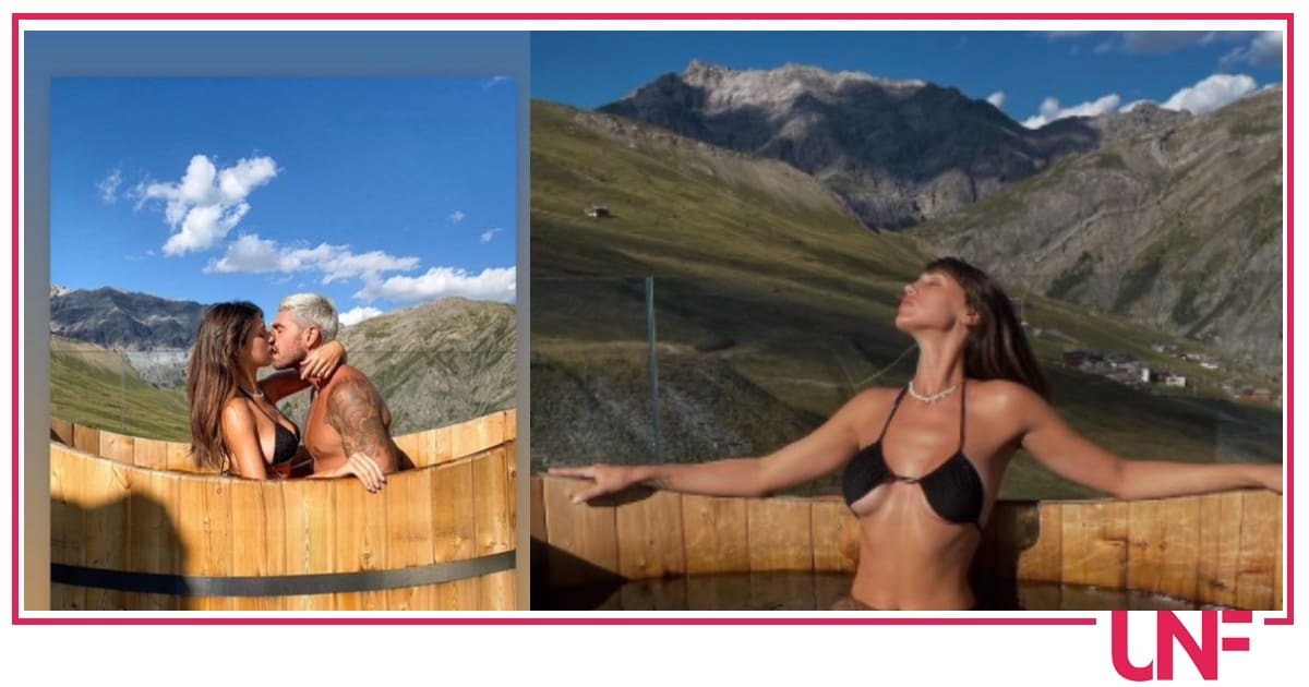 Cecilia Rodriguez anche lei col costume al contrario, è in vacanza in Valtellina