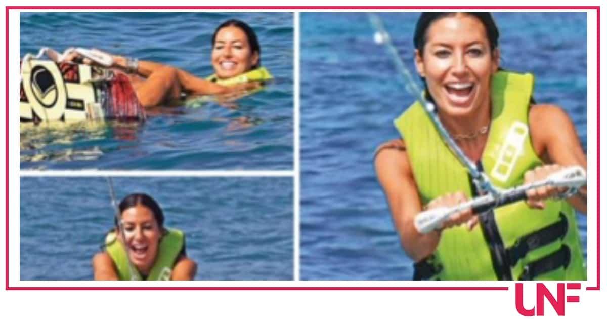 Elisabetta Gregoraci pronta ad allenarsi anche in vacanza, al mare