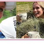 Michelle Hunziker e Serena Autieri in vacanza insieme raccolgono fragoline e funghi