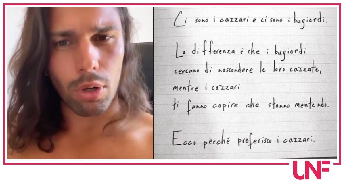 """La rivelazione di Luca Onestini: """"Sto male"""" è Ivana che l'ha lasciato con un messaggio"""