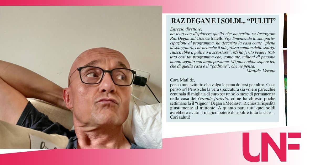 Alfonso Signorini mette ko Raz Degan e conferma la richiesta a tre zeri per il GF VIP 6