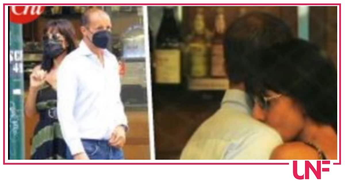 Baci a colazione per Ambra Angiolini e Allegri paparazzati al bar sotto casa (Foto)