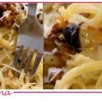 Carbonara con melanzane, la ricetta di Natalia Cattelani (Video)