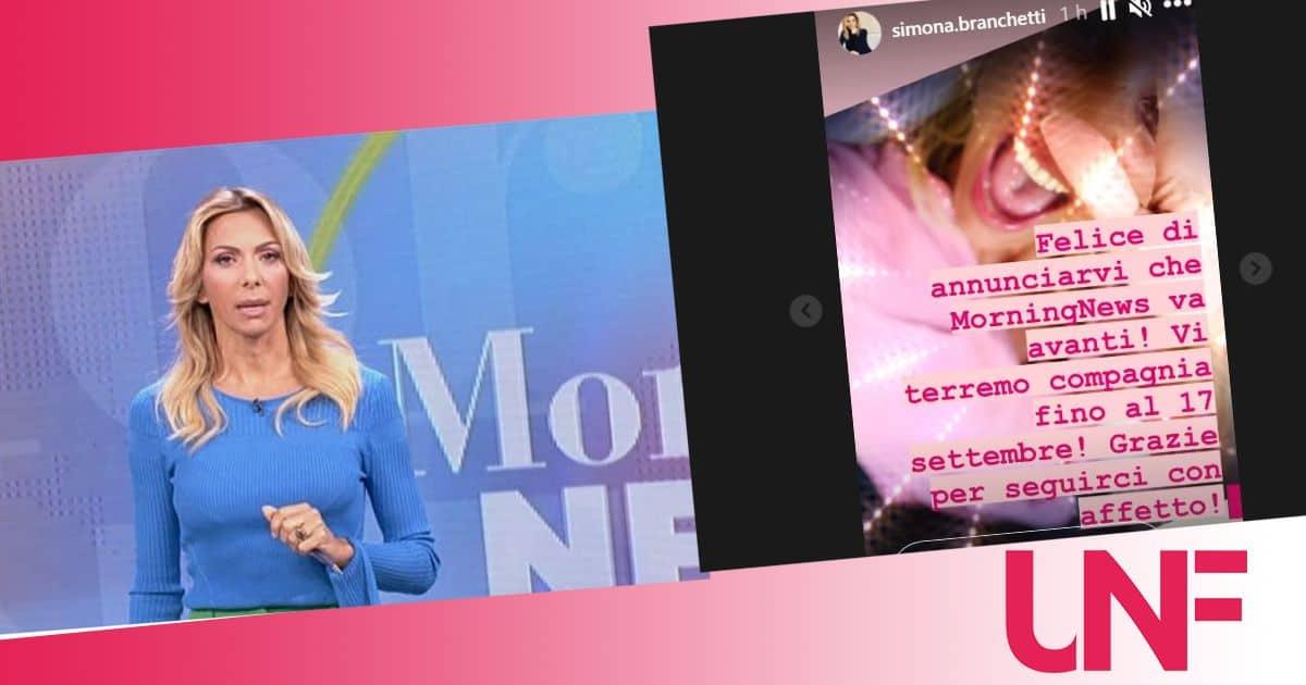 Simona Branchetti conferma: Morning News si allunga, in onda fino a metà settembre