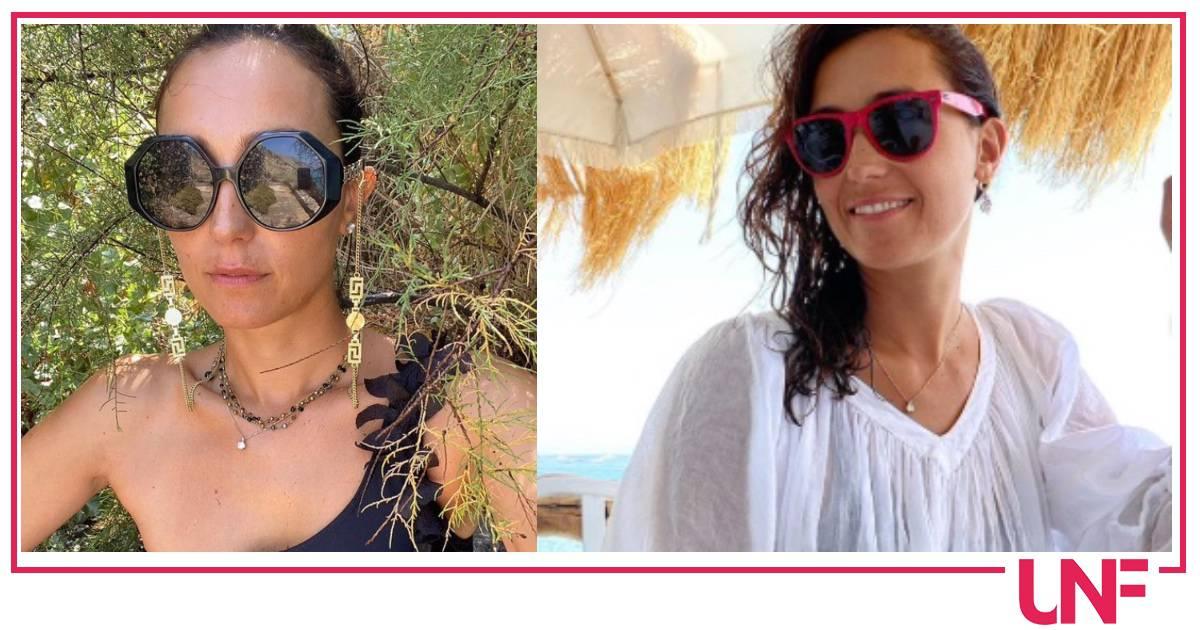 Caterina Balivo mostra le macchie solari che ha sul viso