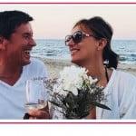 Gianni Morandi e la sua Anna festeggiano l'anniversario in riva al mare