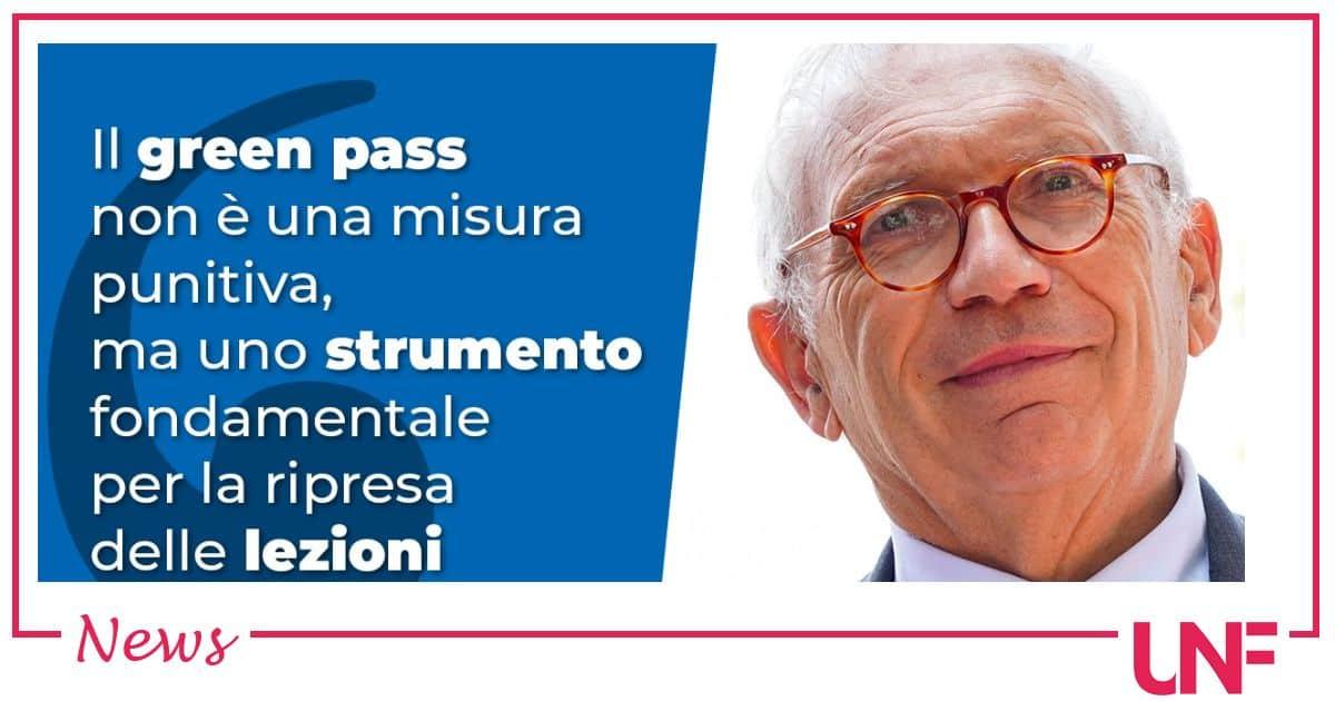 Il green pass obbligatorio per il personale scolastico: parola del ministro Bianchi