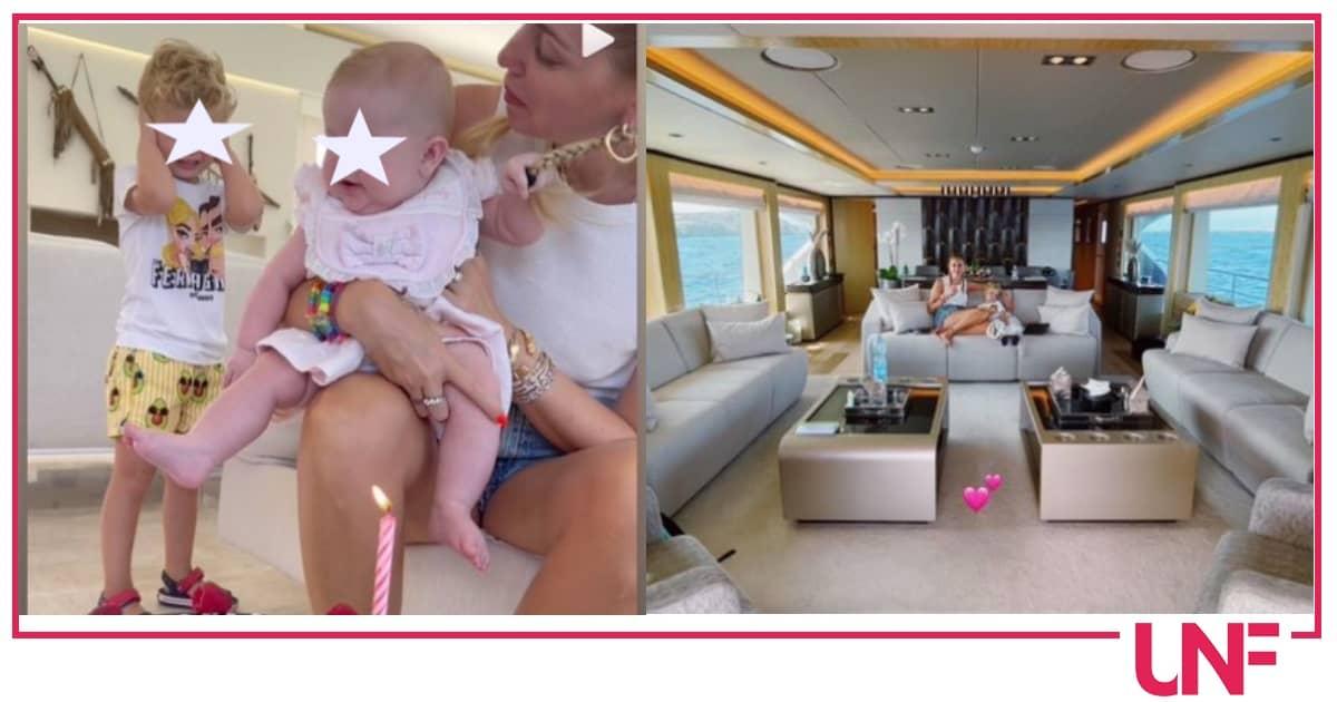 Chiara Ferragni e Fedez festeggiano i 5 mesi di Vittoria sullo yacht