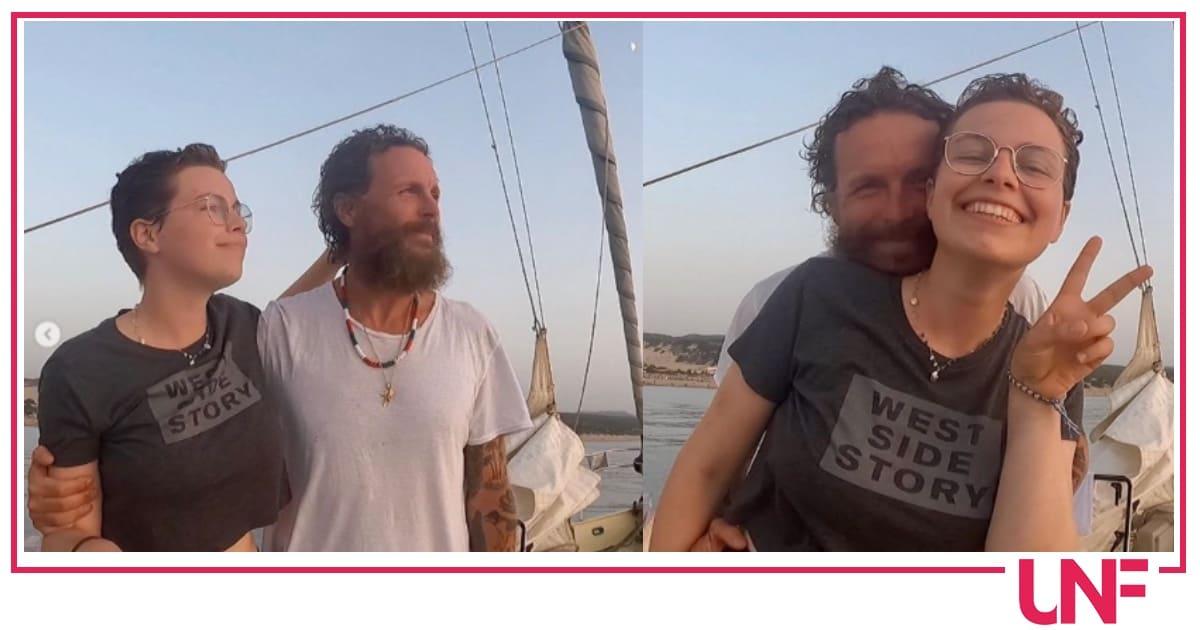 Jovanotti e la figlia Teresa in barca felici dopo avere sconfitto la malattia