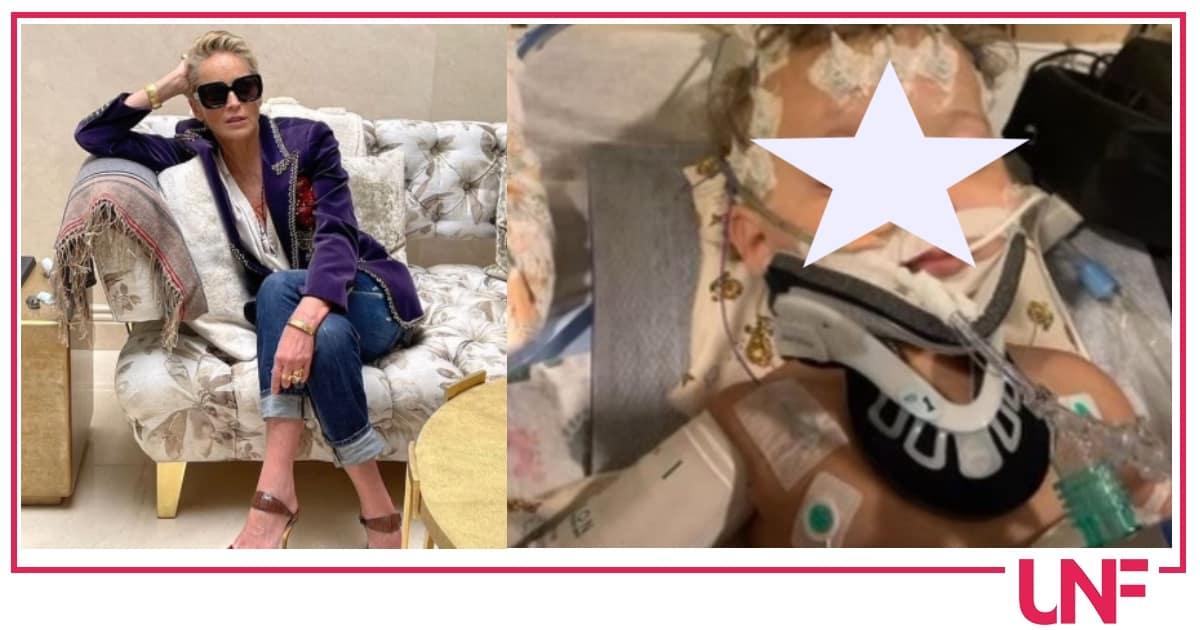 Sharon Stone chiede aiuto per il nipote, trovato nella culla in condizioni disperate