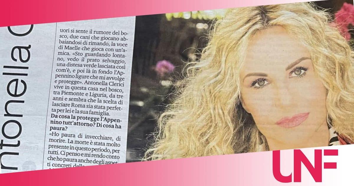 """Antonella Clerici a cuore aperto: """"Ho paura della morte"""""""
