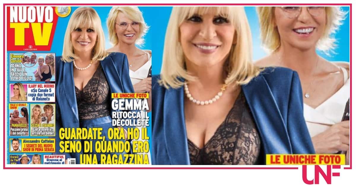 La prima foto di Gemma Galgani con il seno rifatto: come da ragazzina