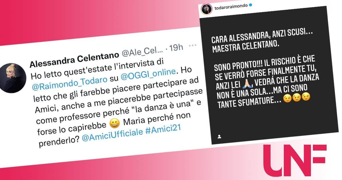 Alessandra Celentano vuole Raimondo Todaro ad Amici 21: il maestro risponde