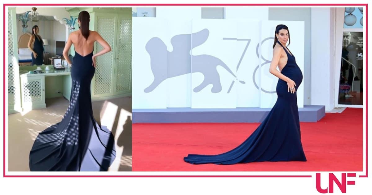 Paola Turani a Venezia con il pancione: bellissima ed elegante