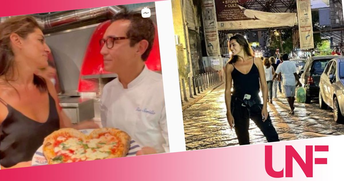 Per Elisa Isoardi viaggio a Napoli con tappa da Sorbillo e pizza a forma di cuore