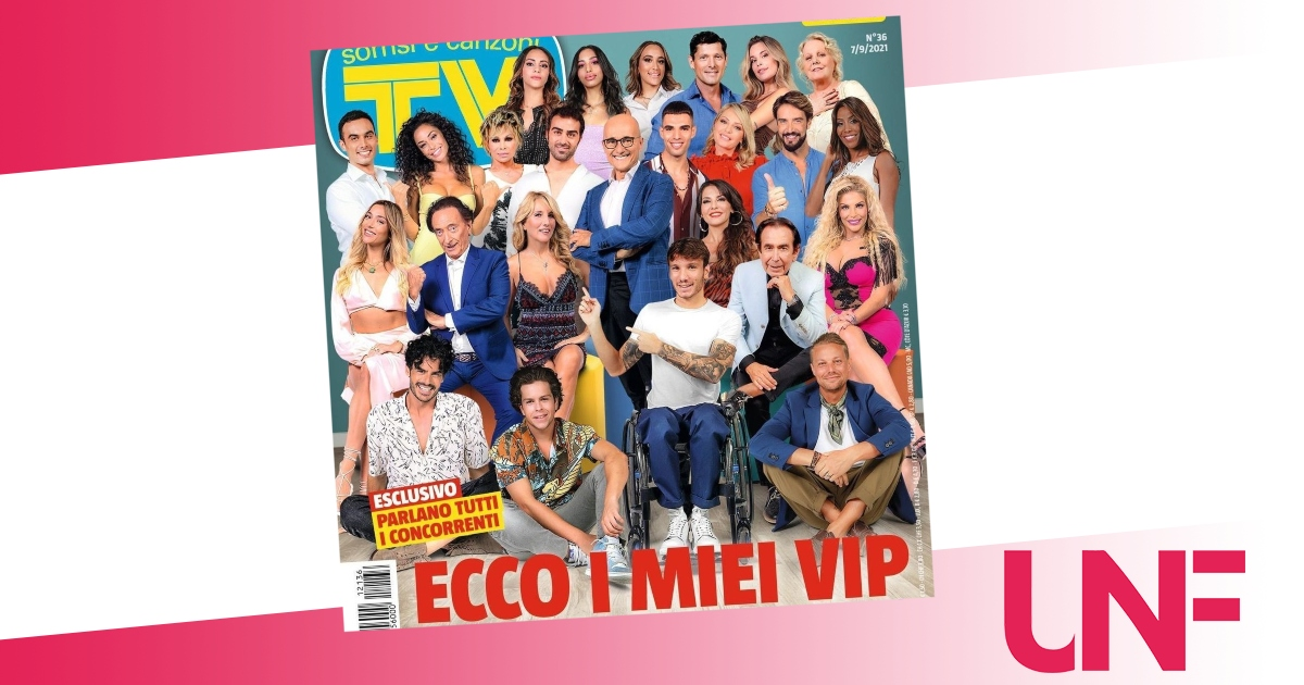 Sulla cover di Tv, sorrisi e canzoni il cast completo del Grande Fratello VIP 6: tutti i nomi