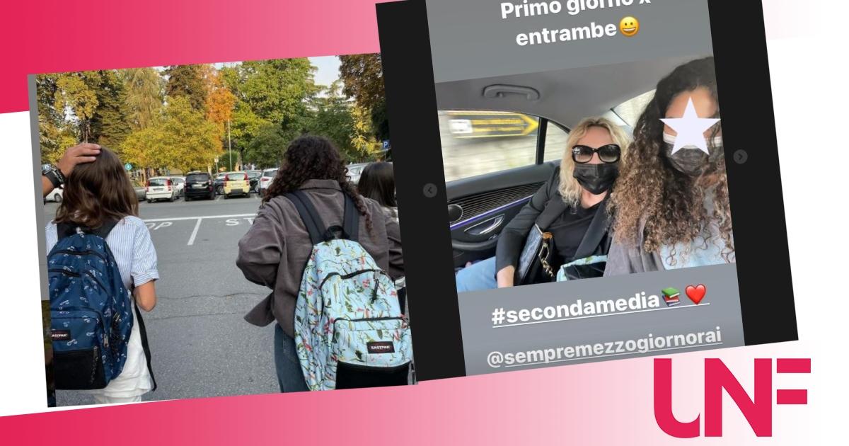Antonella Clerici accompagna Maelle a scuola prima di debuttare su Rai 1