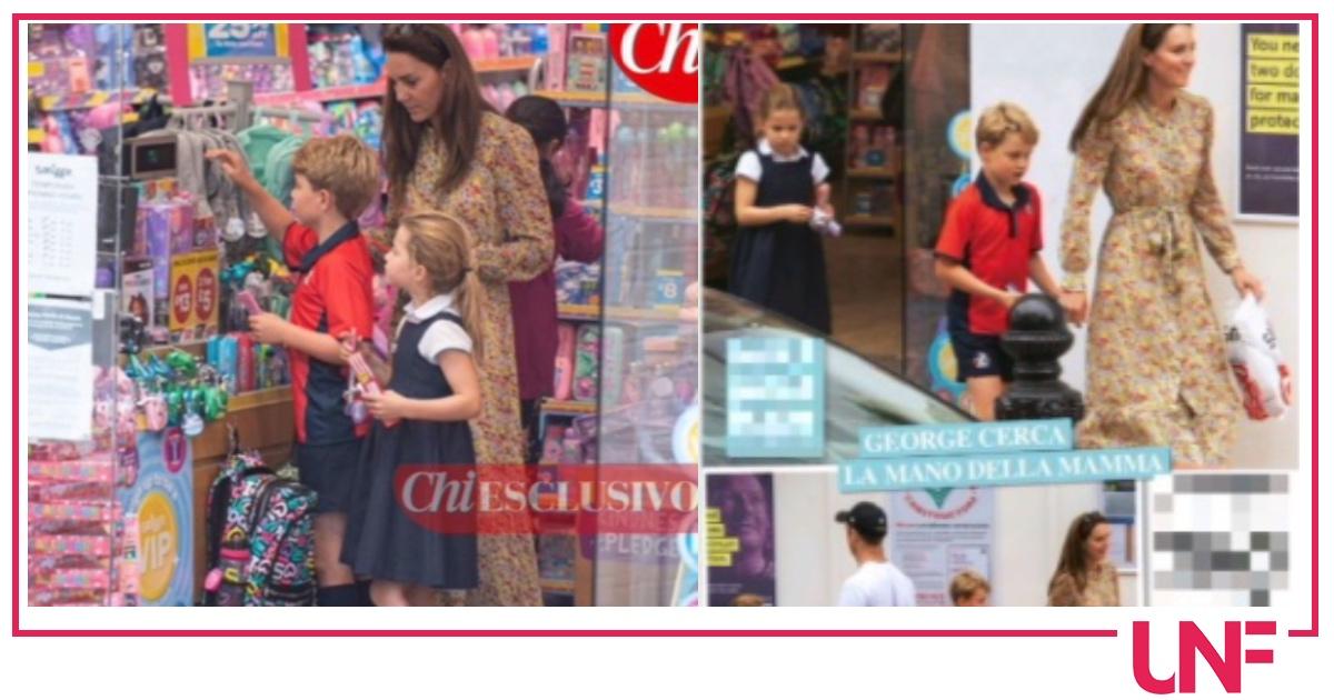 Kate Middleton fa compere con i principini e paga George