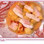 La ricetta speciale dei tortelli guanciale e scampi di Michele Farru