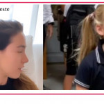 Celeste Trussardi spiega alla sorella Aurora come è andato il primo giorno di scuola