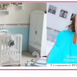 Paola Turani pronta al parto mostra la cameretta del figlio