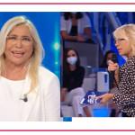 Maria de Filippi saluta Mara Venier che ricambia e fa l'in bocca al lupo alle sue colleghe di Mediaset e non solo