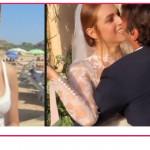 Miriam Leone festeggia al mare in costume bianco il suo sì a Paolo Carullo