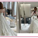Miriam Leone meravigliosa in Dior svela i dettagli del suo abito da sposa