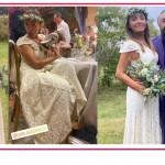 Il matrimonio di Camila Raznovich è country chic, l'abito da sposa hippie