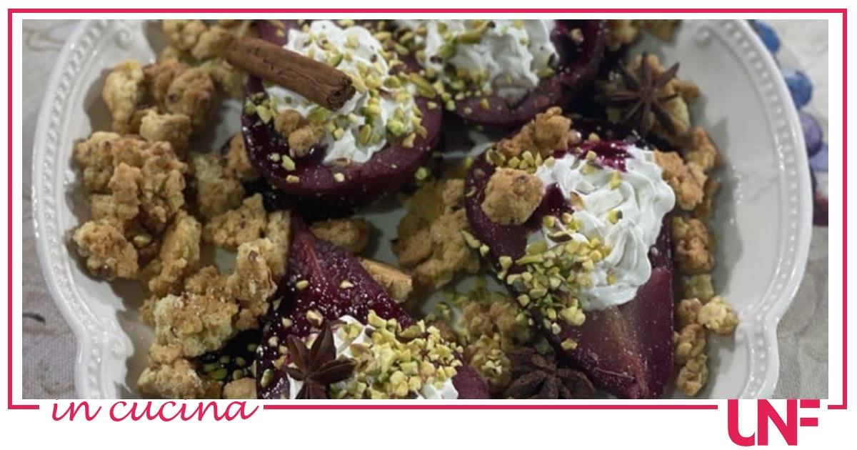 Ricette Antonella Ricci, pere caramellate e farcite