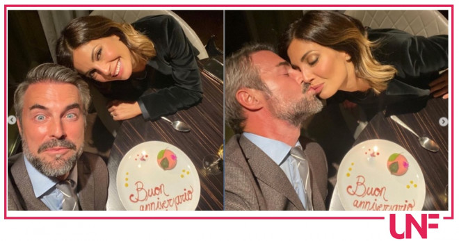 Flavio montrucchio alessia mancini festeggiano anniversario matrimonio