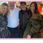 Per la prima volta Michelle Hunziker ed Eros insieme al ristorante
